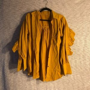 Shein Frill Mustard Yellow Button Down! (M)